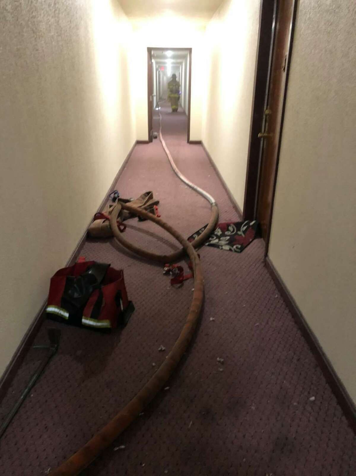 A fire in a Burnside Avenue apartment building was contained to one unit because of a closed door, according to fire officials.