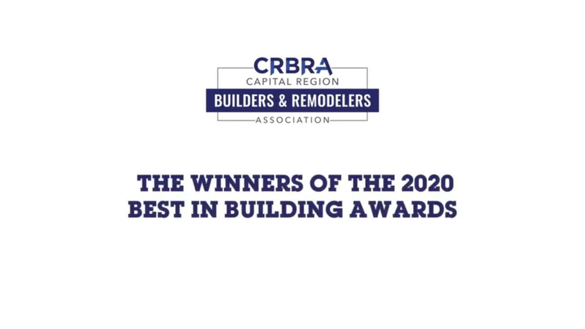 A screenshot from one of the video presentations of the 2020 Best In Building Awards, hosted by the CRBRA.