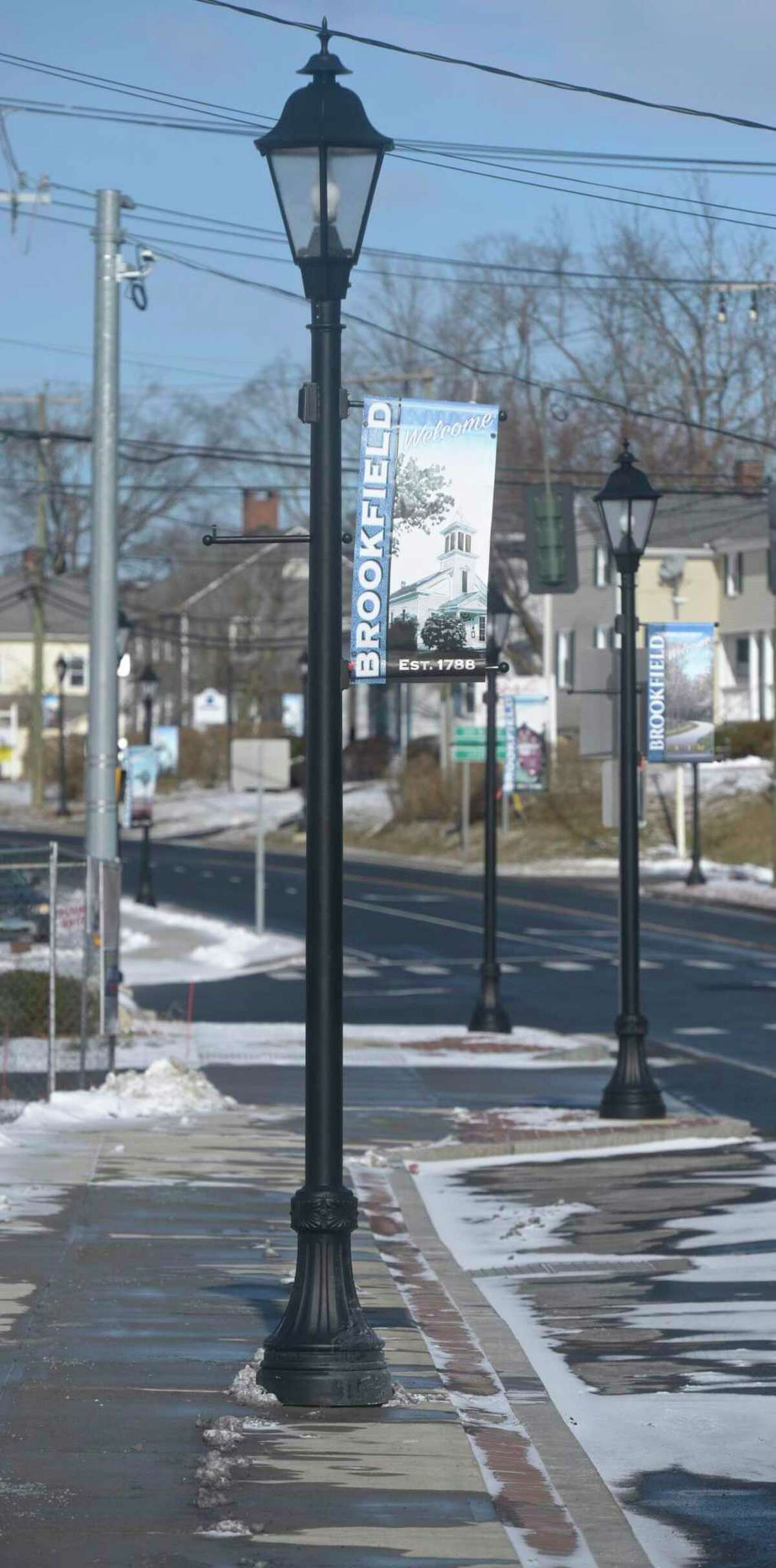 Work continues on the Brookfield Village project and the Four Corners streetscape project is moving into phase 4. Friday, January 29, 2021, in Brookfield, Conn.