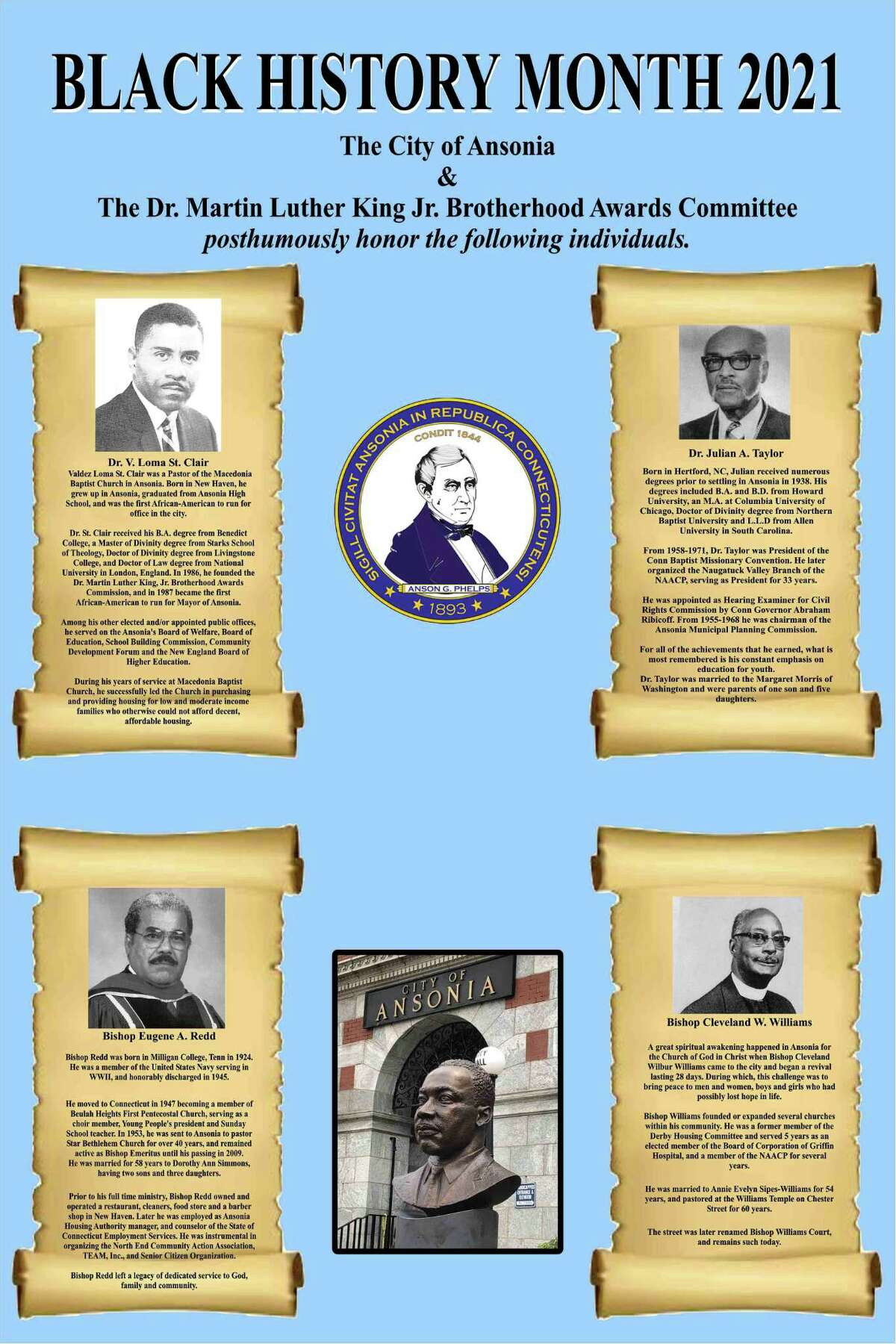 Poster from the Dr. Martin Luther King Jr. Brotherhood Awards Program
