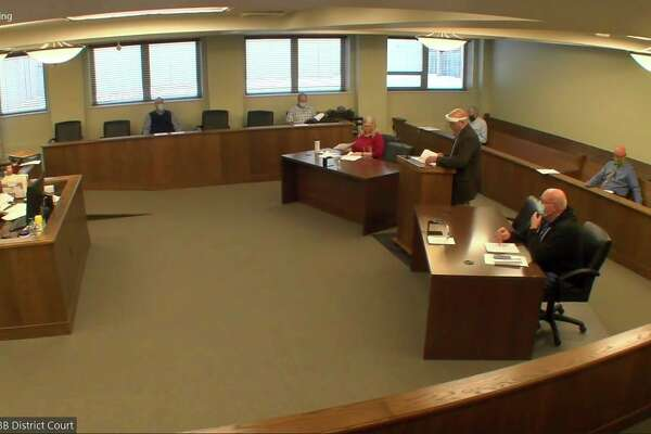 The Huron County Board of Commissioners during this week's meeting, which was held over the Zoom conferencing application. (Robert Creenan/Huron Daily Tribune)