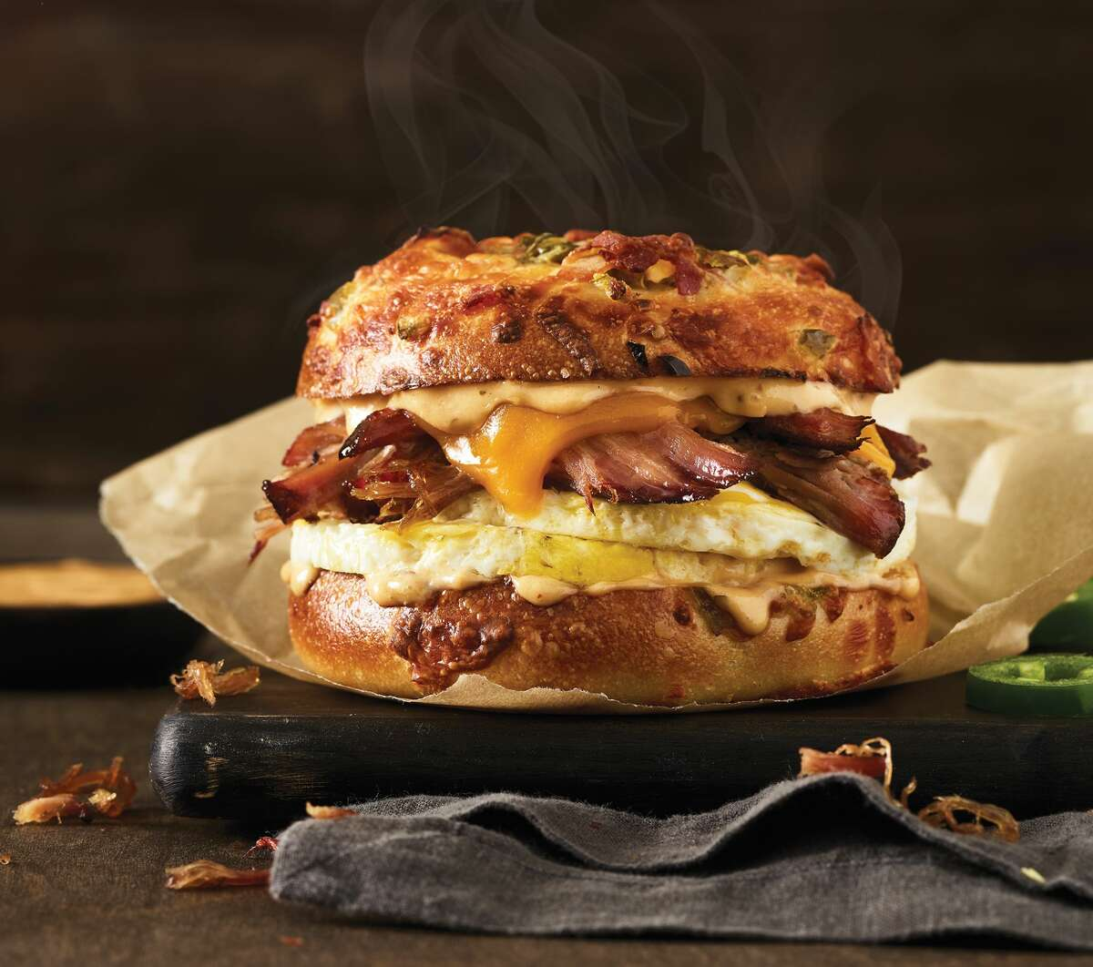 Is this the most Texas bagel sandwich?
