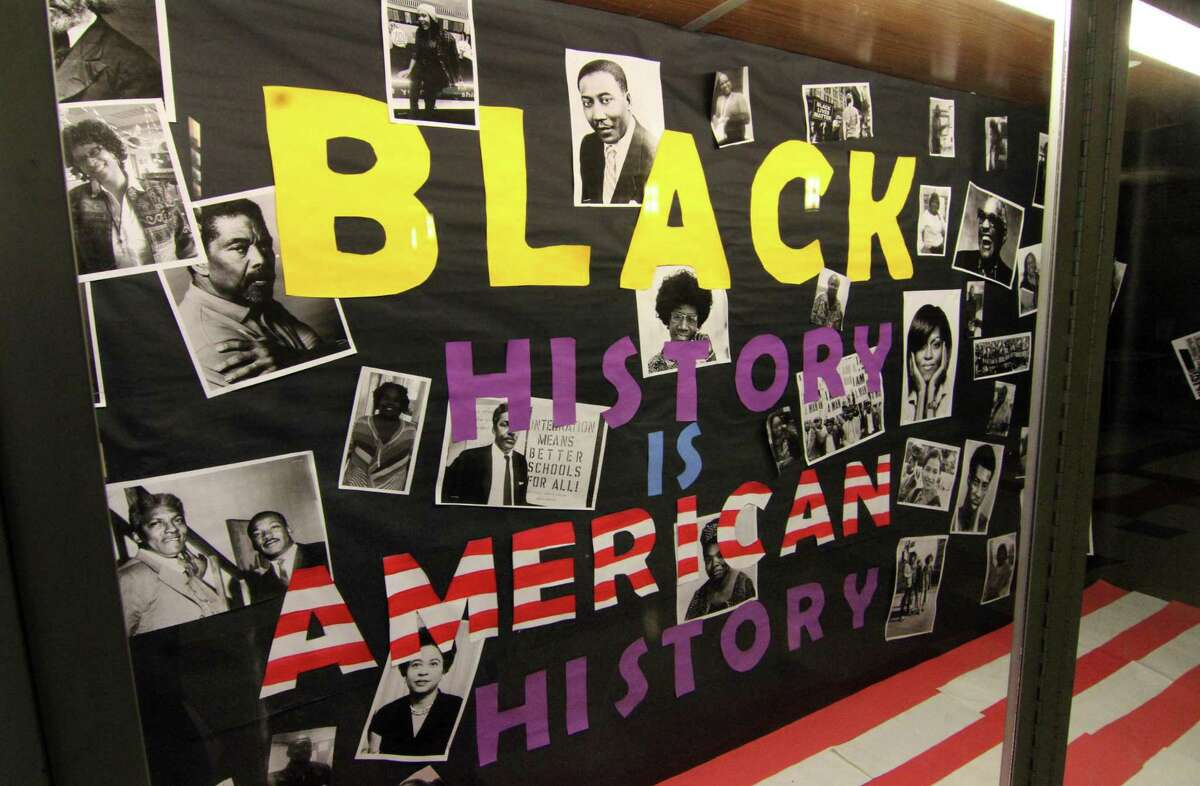 A commemoration of Black History Month at The Wexler Grant Community School in 2019.