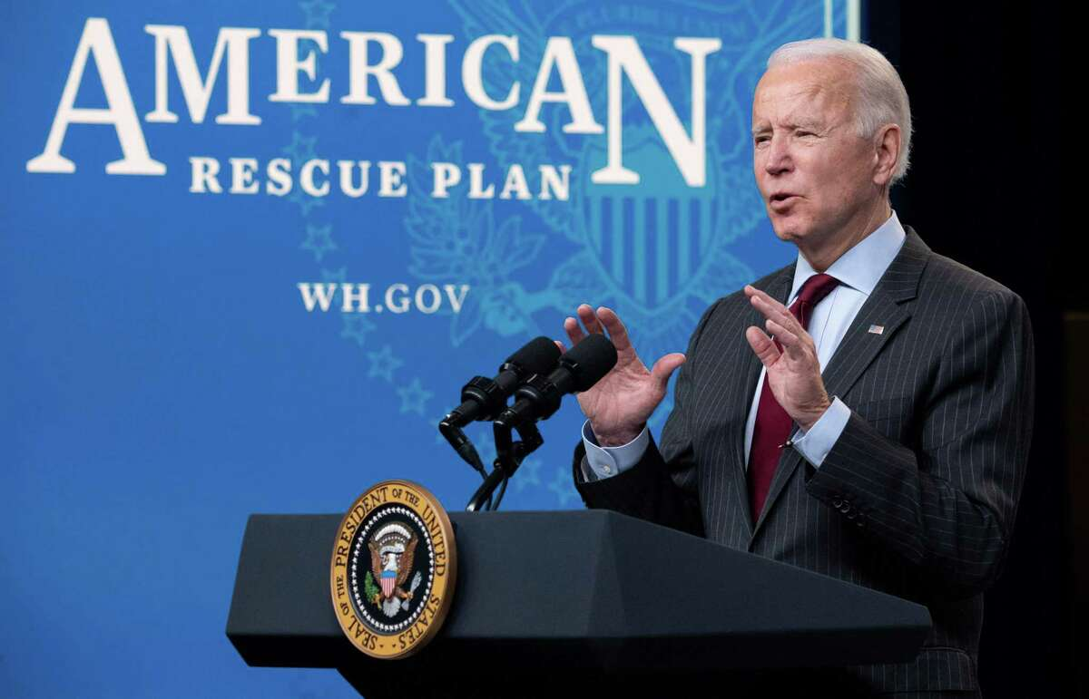 President Joe Biden speaks about the American Rescue Plan and the Paycheck Protection Program (PPP) for small businesses in response to coronavirus, in Washington, D.C., on Monday. The Paycheck Protection Program (PPP) has been a key lifeline to businesses amid the Covid-19 crisis, but the smallest among them, those least likely to have relationships with banks, often missed out.