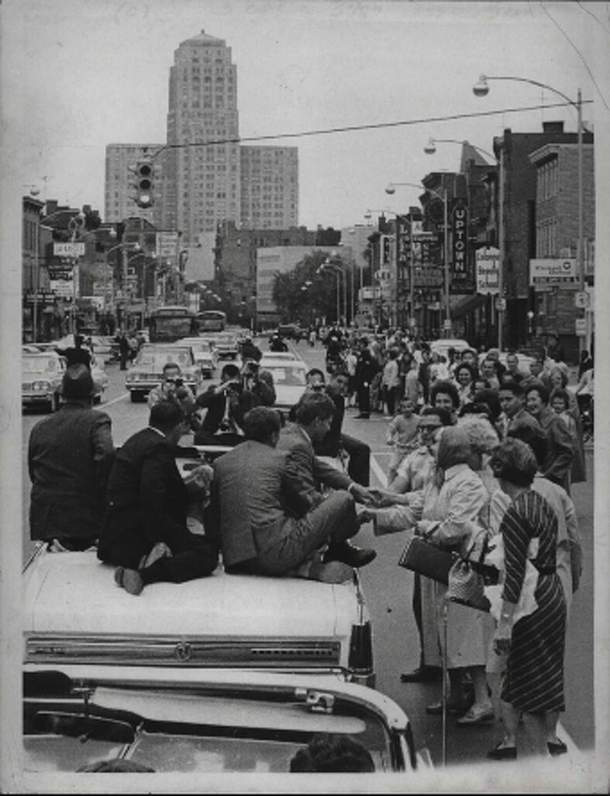 Visit to Albany, Senator Robert F. Kennedy. October 19, 1964 (Times Union Archive)