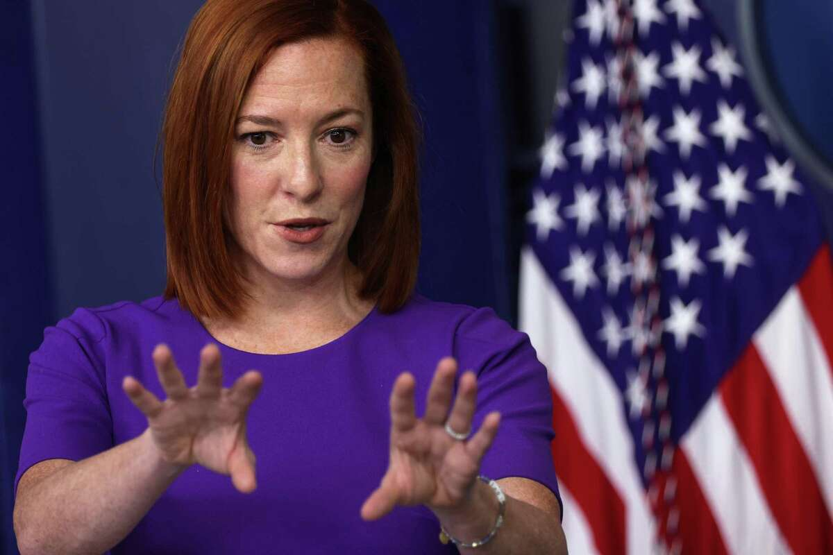 WASHINGTON, DC - FEBRUARY 24: White House Press Secretary Jen Psaki speaks during a news briefing at the James Brady Press Briefing Room of the White House February 24, 2021 in Washington, DC. Psaki held a news briefing to answer questions from the members of the press. (Photo by Alex Wong/Getty Images)