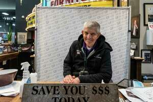 HOUSTON, TX - FEBRUARY 18: Jim Mclngvale, the owner of Gallery Furniture store which opened its door and transformed into a warming station after winter weather caused electricity blackouts, poses for a photo on February 18, 2021 in Houston, Texas. Winter storm Uri brought severe temperature drops causing a catastrophic failure of the power grid in Texas. About two million people are without electricity throughout Houston.