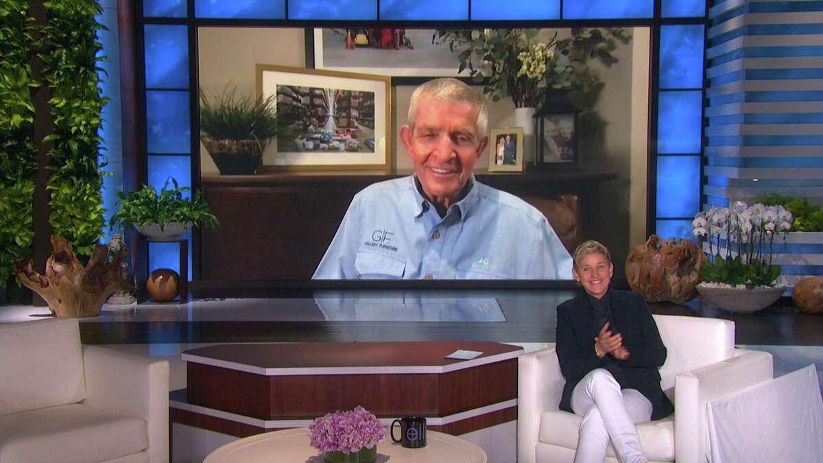 "MATTRESS MACK: Ellen welcomes community hero Jim ""Mattress Mack"" McIngvale from Houston, TX, on ""The Ellen DeGeneres Show"" via video chat airing Wednesday, February 24th."