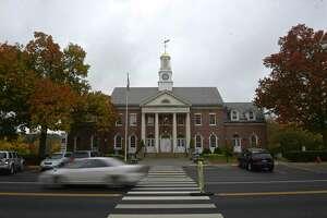 Newtown's historic Edmond Town Hall, Wednesday, October 21, 2020, Newtown, Conn.