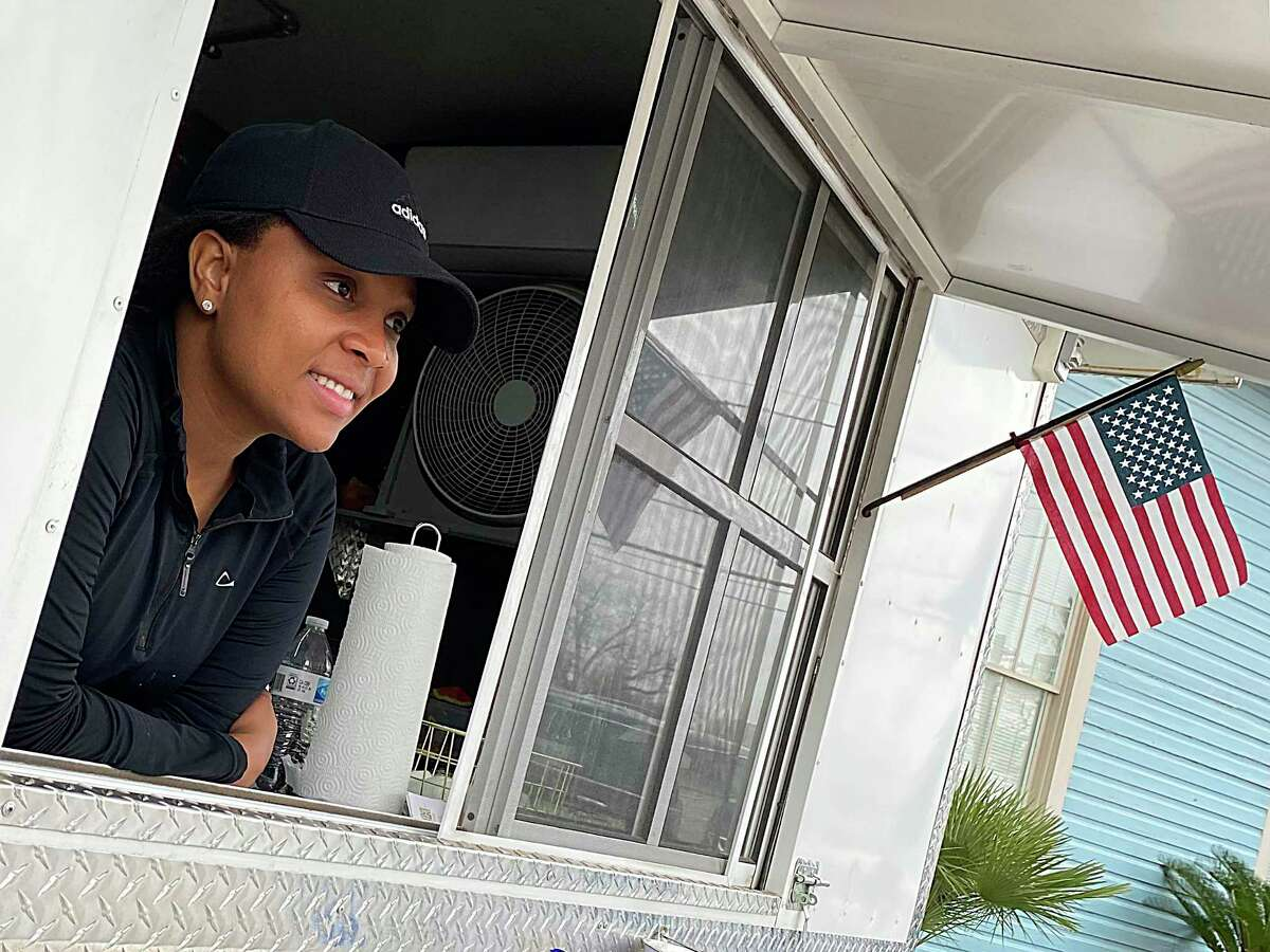Christelle Chalmers operates Christelle's Culinary Corner from a leased trailer on South Union Street in New Braunfels.