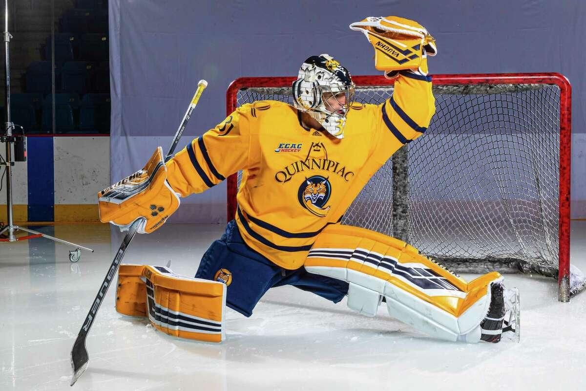 Quinnipiac men's ice hockey player Keith Petruzzelli, 2020-21 season.