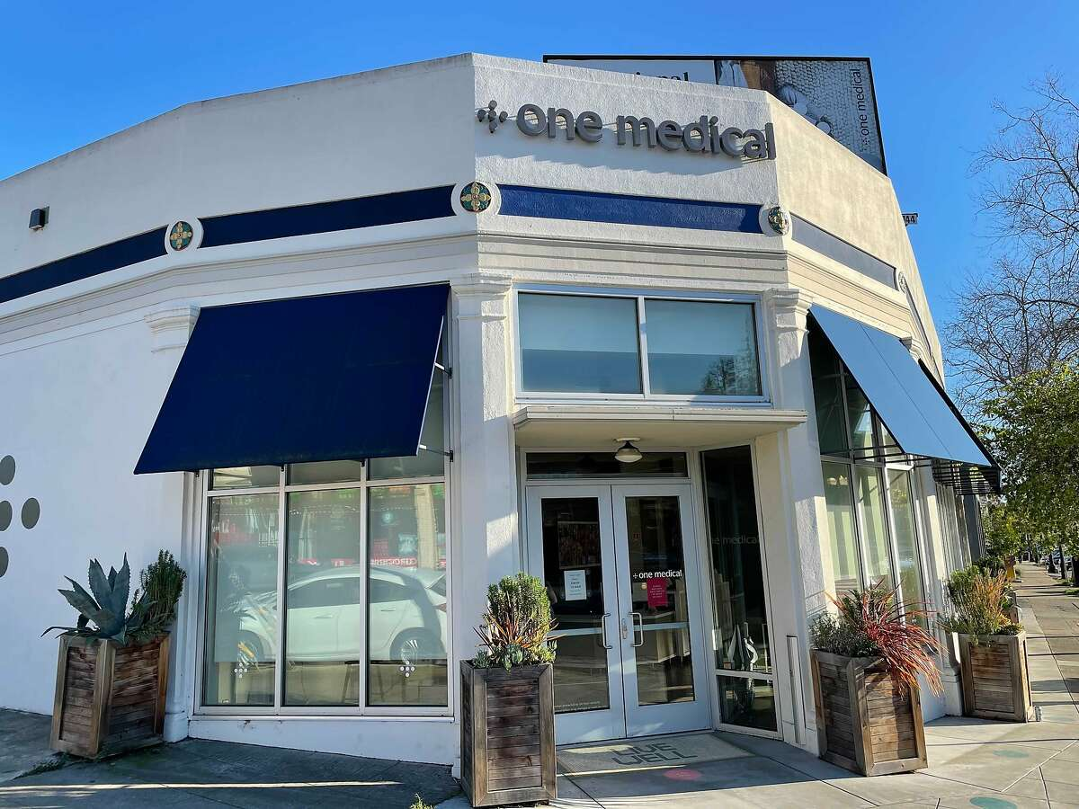 The front of a One Medical clinic on Grand Ave, Oakland, Feb. 24, 2021.