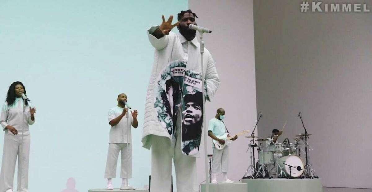 Houston native Tobe Nwigwe performs on Jimmy Kimmel Live.