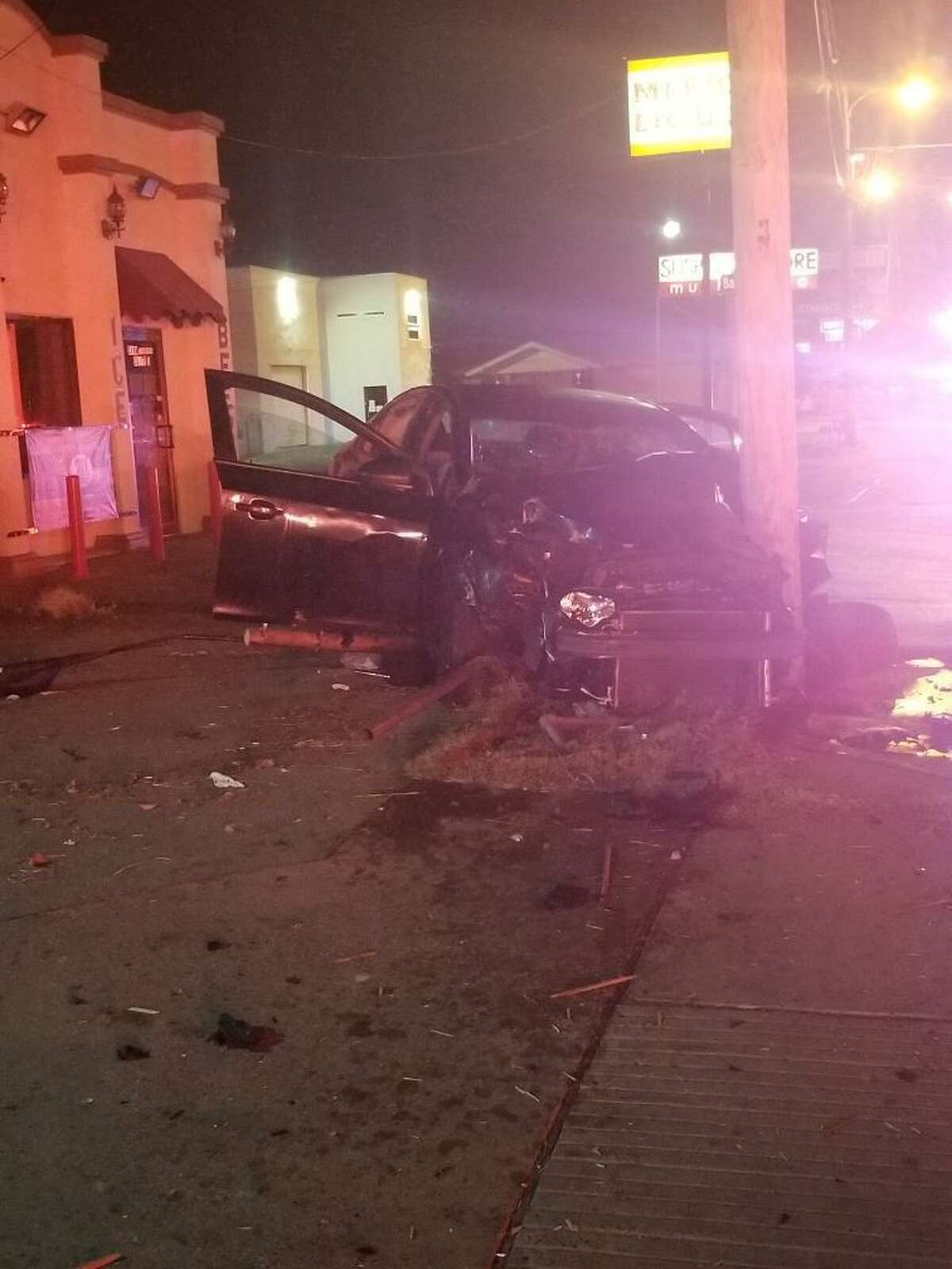 Two people were injured in this a reported early Thursday near the intersection of West Saunders Street and Barcelona Avenue.