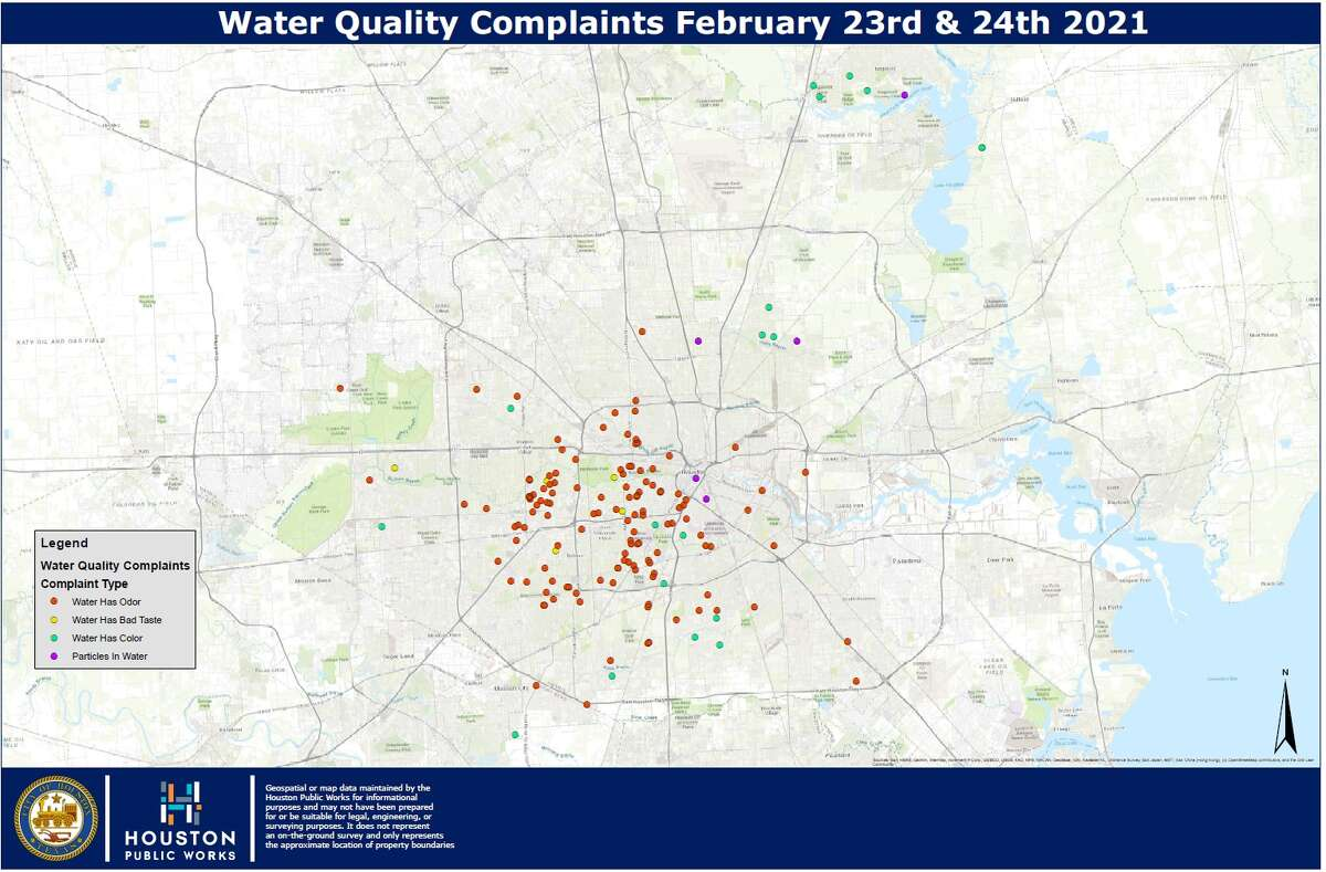 Based on the locations of reports of water with a bad smell and taste, Houston Public Works believes that the odor is a result of increased disinfectants in the water.