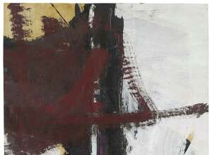 """Franz Kline's """"Untitled"""" from1961 was gifted to the Yale University Art Gallery by the Friday Foundation in honor of Richard E. Lang and Jane Lang Davis."""