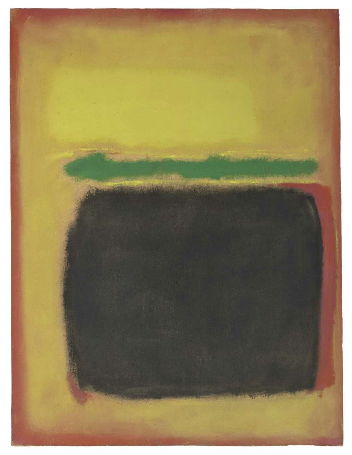 """Mark Rothko's """"No. 11 (Yellow, Green, and Black)"""" from 1950 was gifted to the Yale University Art Gallery by the Friday Foundation in honor of Richard E. Lang and Jane Lang Davis."""