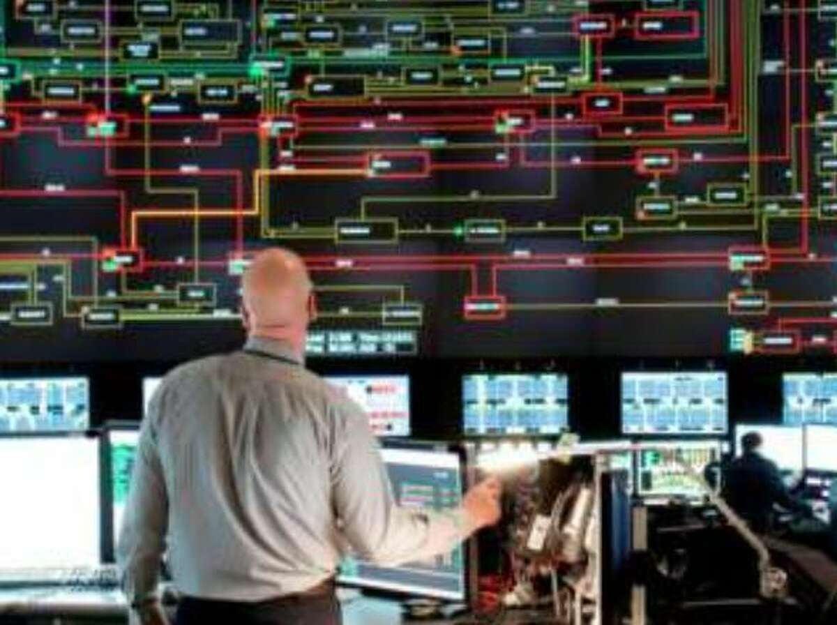 NYSIO tracks power flows across the state from their control room in Rensselaer County.