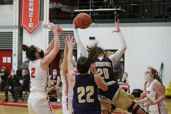 Frankfort defeats Benzie Central 57-47 in varsity girls basketball on Feb. 24.