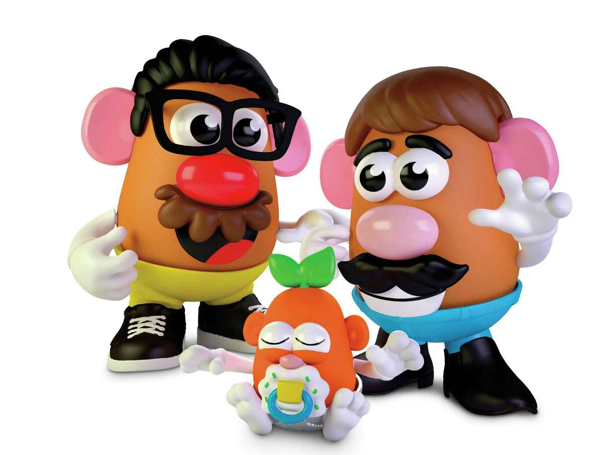 This photo provided by Hasbro shows the new Potato Head world. Mr. Potato Head is no longer a mister. Hasbro, the company that makes the potato-shaped plastic toy, is giving the spud a gender neutral new name: Potato Head. The change will appear on boxes this year. (Hasbro via AP)