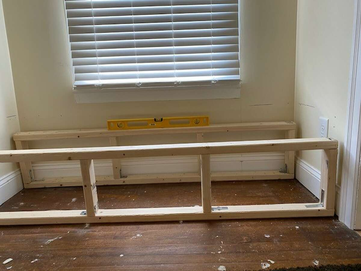 Mary Gage-Los used this space to build a window seat in her recently sold Phila Street home in Saratoga Springs.