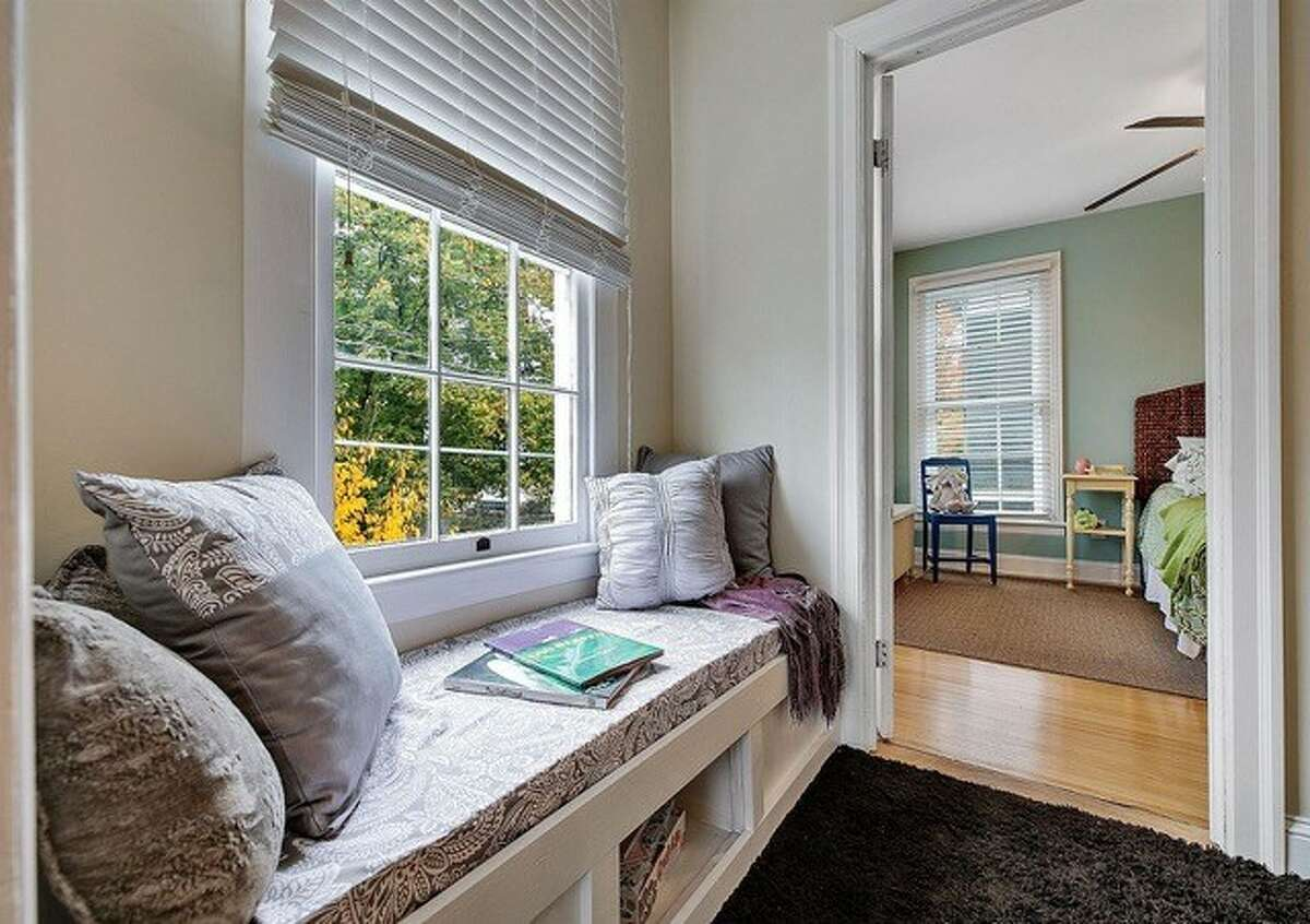 Mary Gage-Los built this window seat in her recently sold Phila Street home in Saratoga Springs.