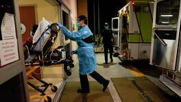 A patient with COVID-19 is rushed to the hospital in California in January. More than 500,000 people in the U.S. have died from COVID-19. We should all do our part to make this the last grim milestone in the pandemic.