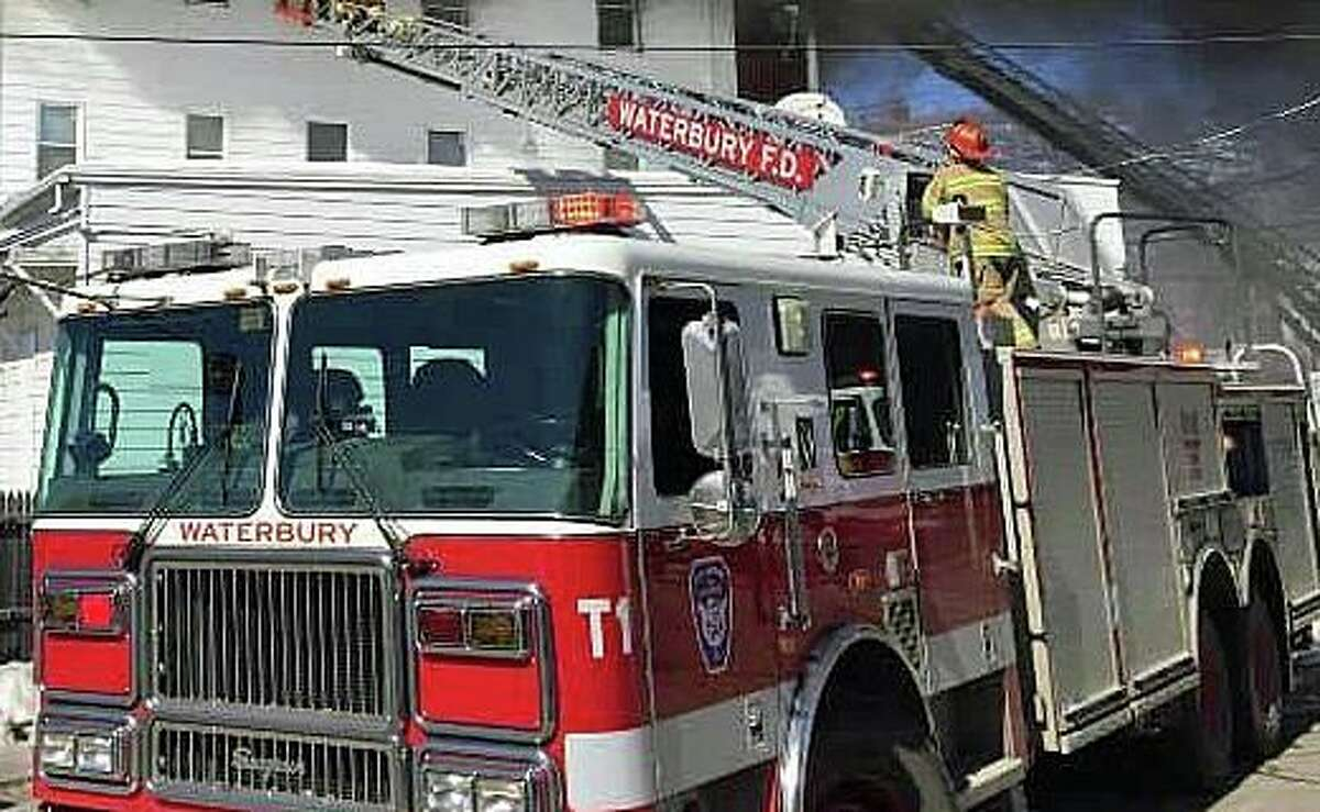A file photo of a Waterbury, Conn., fire engine.