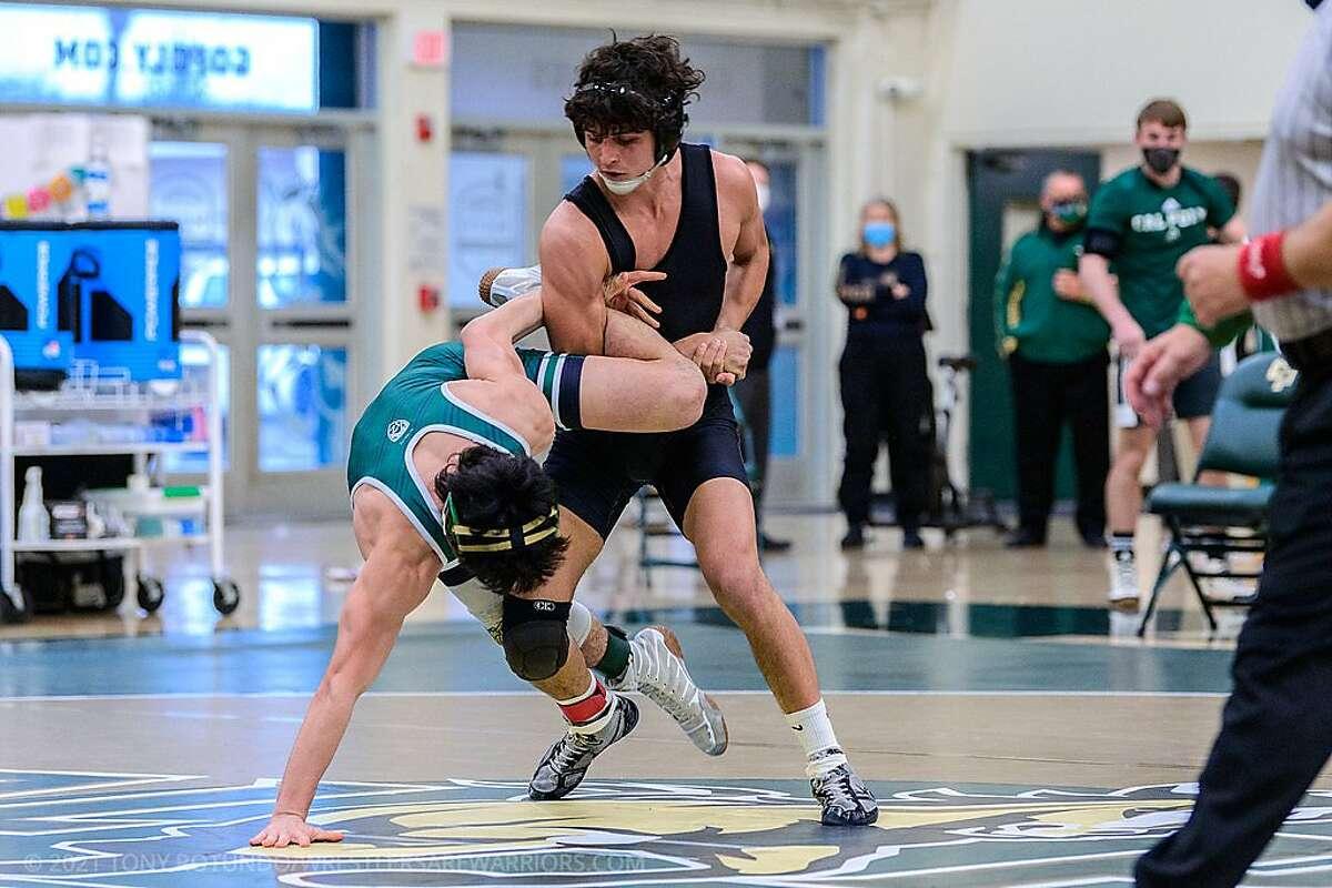 Jason Miranda wrestling at Cal Poly