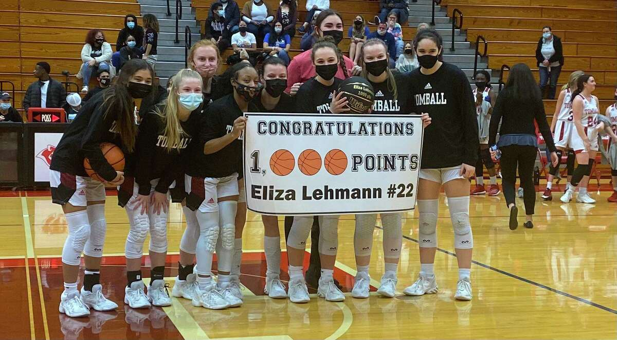 Tomball senior guard Eliza Lehmann officially became a member of the 1000-point club during her last home game on Friday, Feb. 5.