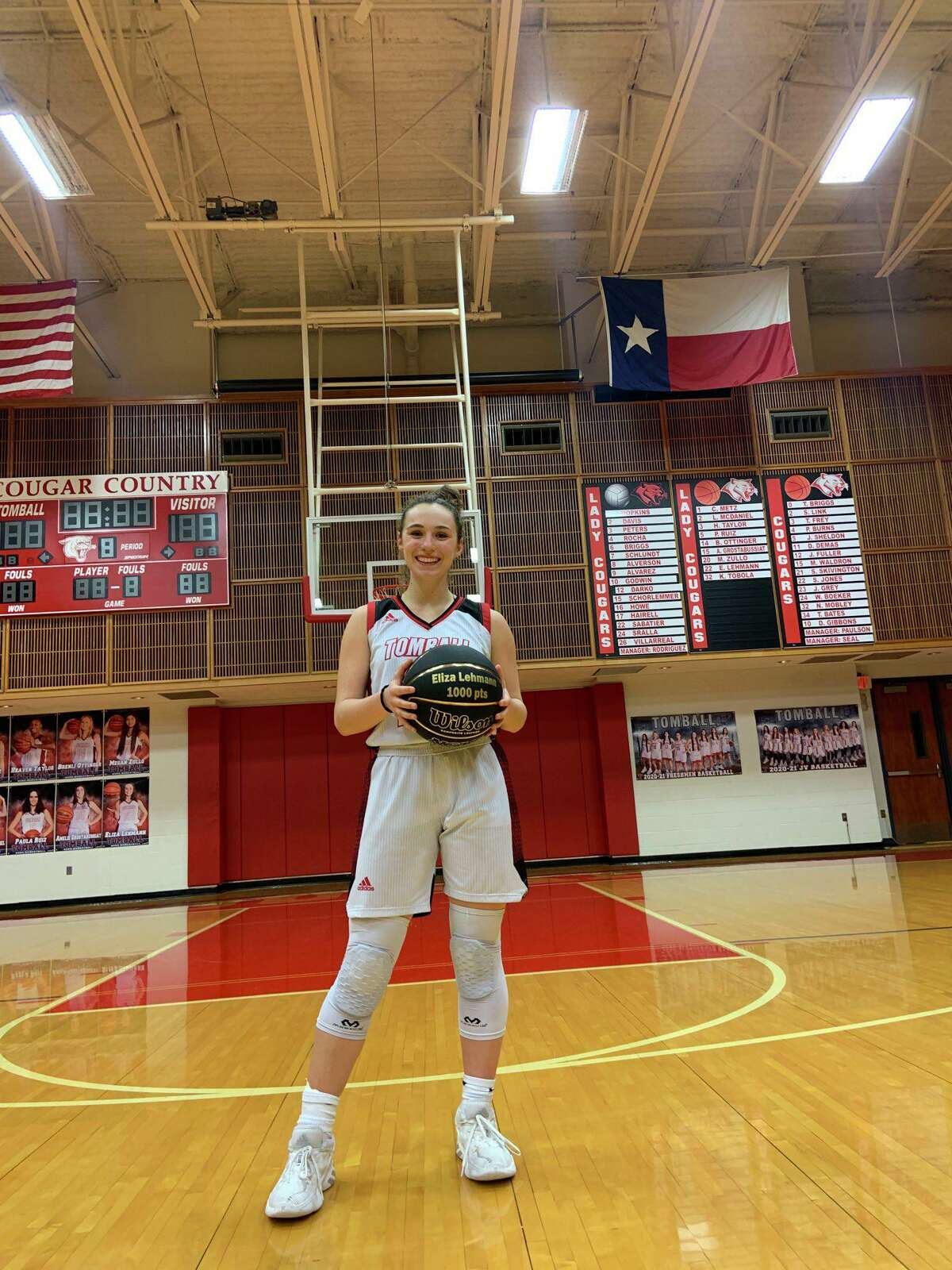 Tomball senior guard Eliza Lehmann played her last home game on Friday, Feb. 5, by scoring 18 points and in a win against Klein.