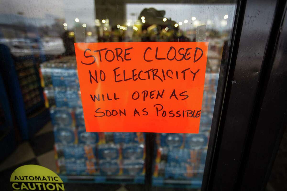 A Fiesta Mart closed because of a power outage in Austin, Texas, on Feb. 17, 2021.