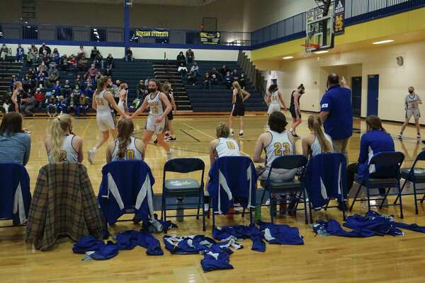 Morley Stanwood's girls' basketball team defeated Big Rapids at home on Wednesday night, handing the Cardinals their first defeat of the regular season. (Pioneer photo/Joe Judd)