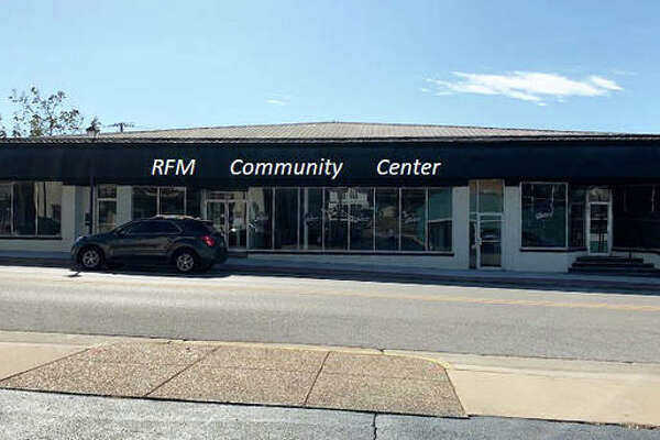 This mock-up illustrates the planned RFM Community Center from the perspective of the existing RFM brick-and-mortar building located across the street on East Ferguson Avenue in Wood River.