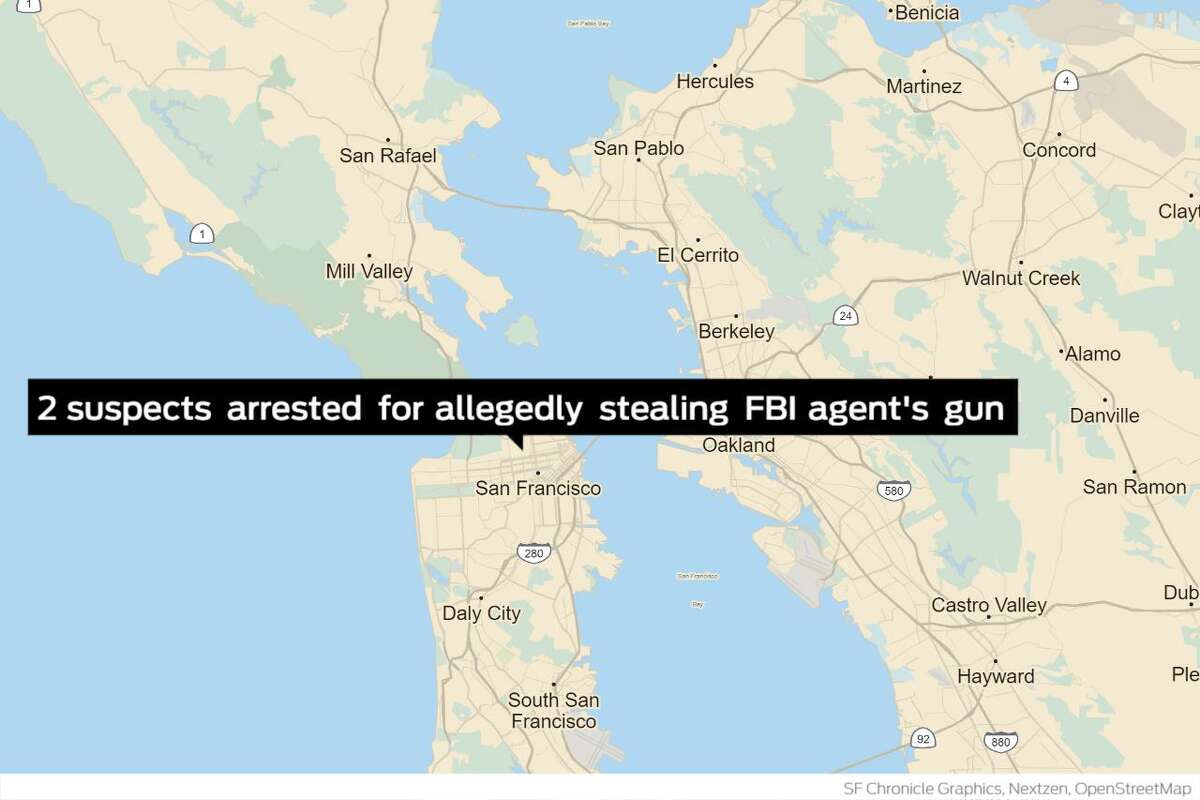 Two suspects have been charged this week for allegedly stealing an FBI agent's backpack from his car that contained a loaded gun and law enforcement credentials, authorities said