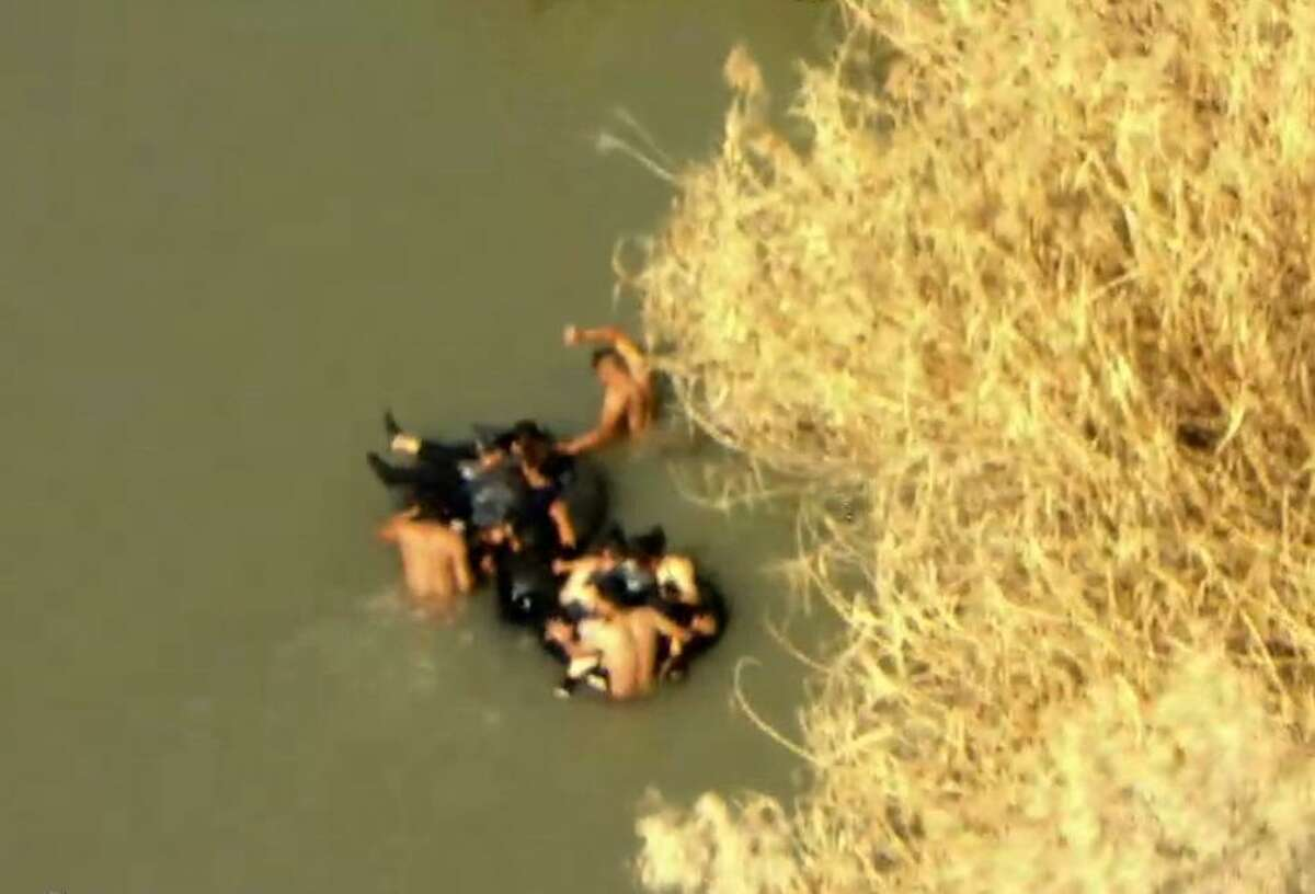 This fiscal year, Laredo Sector Marine Unit have apprehended over 450 immigrants attempting to cross the river and have turned back over 1,000 more individuals to Mexico.