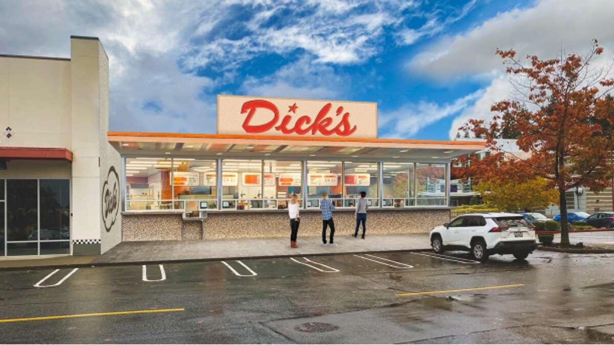 Rendering of the new Dick's Drive-In in Bellevue.