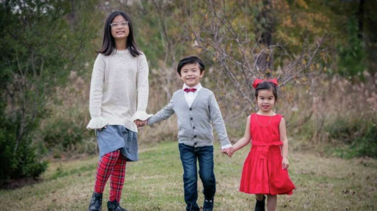 Undated photo of Olivia, 11, Edison, 8, and Colette Nguyen, 5, who along with their grandmother Loan Le died in a fire in Sugar Land on Feb. 16, 2021. The children's mother, Jackie Nguyen, says she is staying strong because she wants people to know of her children and to build something strong that could be their legacy since their lives were cut short.