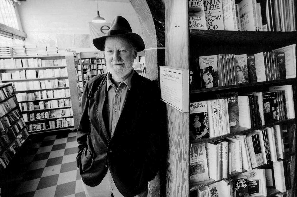 Lawrence Ferlinghetti at his City Lights bookstore in San Francisco in 1993.