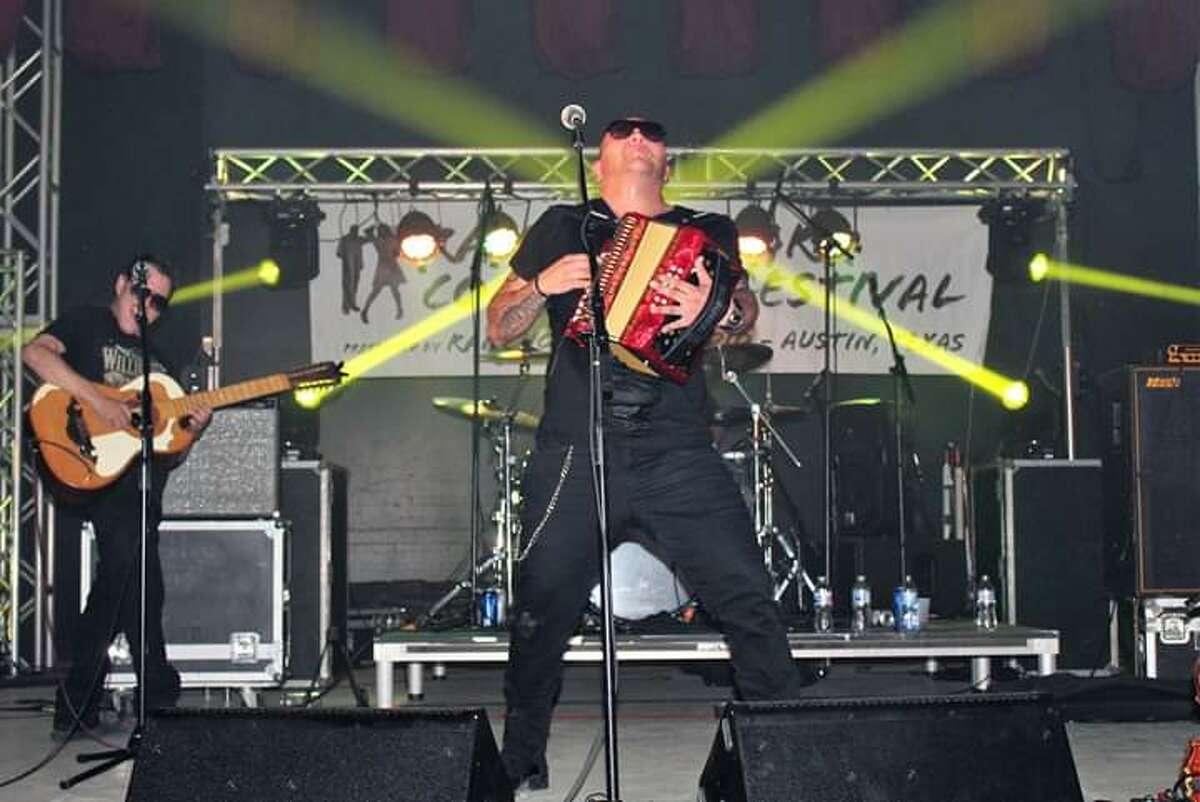 J.R. Gomez performswith his band Los Conjunto Bandits.