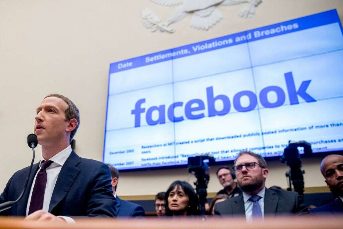 Facebook CEO Mark Zuckerberg testifies on Capitol Hill in 2019. For years, Facebook has been in a defensive crouch amid a slew of privacy scandals, antitrust lawsuits and charges that it was letting hate speech and extremism destroy democracy.
