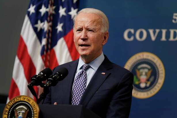 President Joe Biden speaks during an event to commemorate the 50 millionth COVID-19 shot, in the South Court Auditorium on the White House campus, Thursday, Feb. 25, 2021, in Washington.