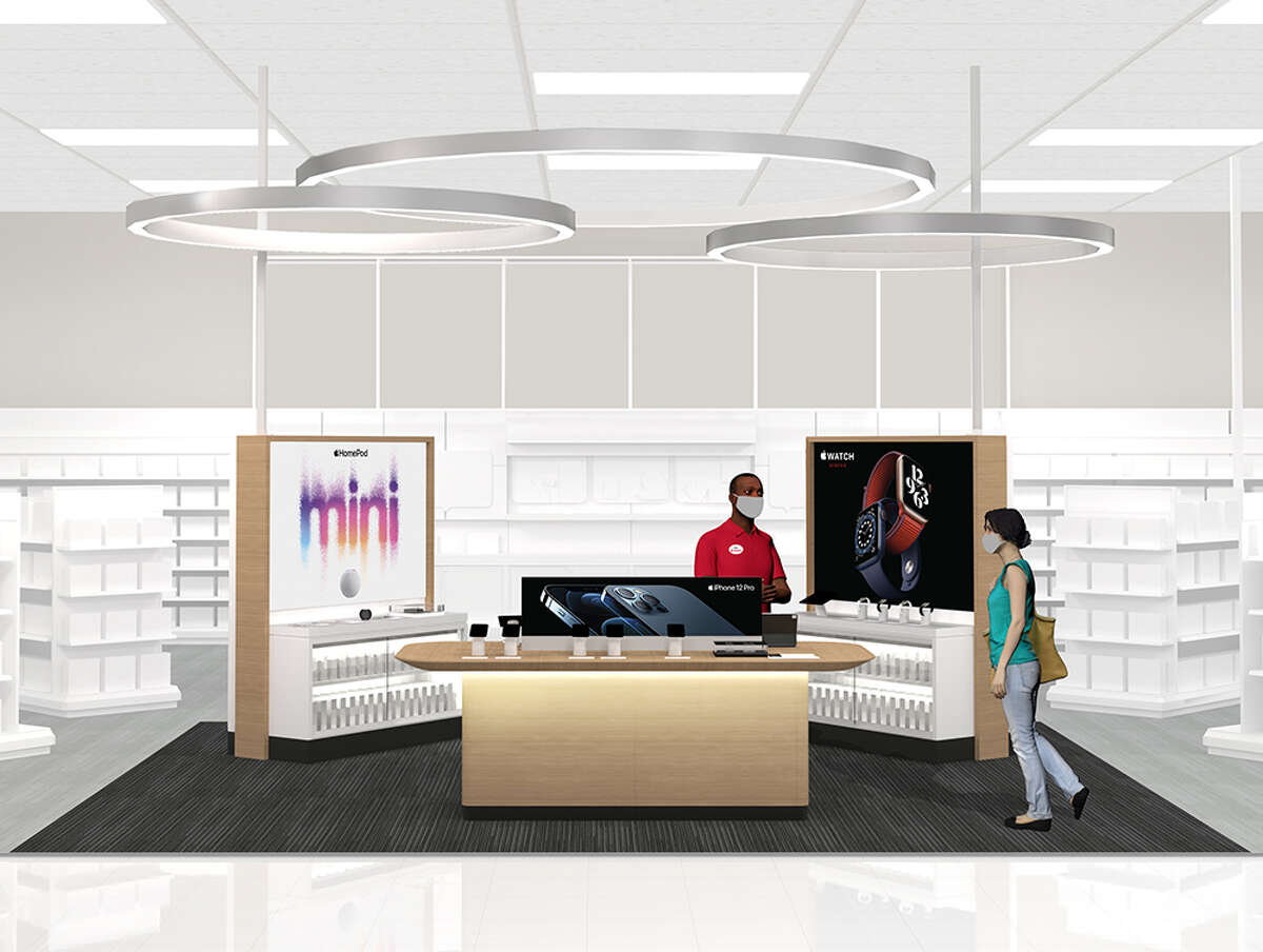 A rendering of the new Apple Experience at Target. A San Antonio Target will be one in 17 in the country to house this new collaboration.