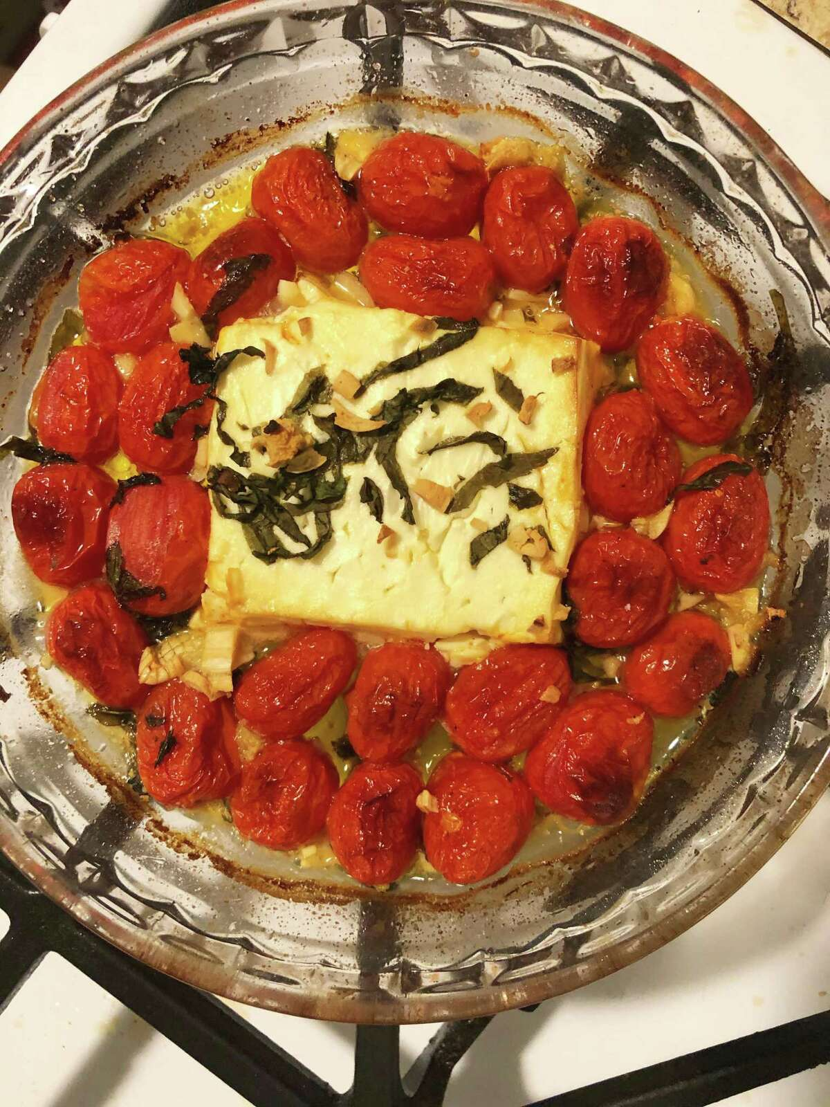 TikTok's tomato feta pasta is taking the app by storm. Hearst Connecticut Media's features reporter Sarajane Sullivan put her own spin on the dish with this recipe.