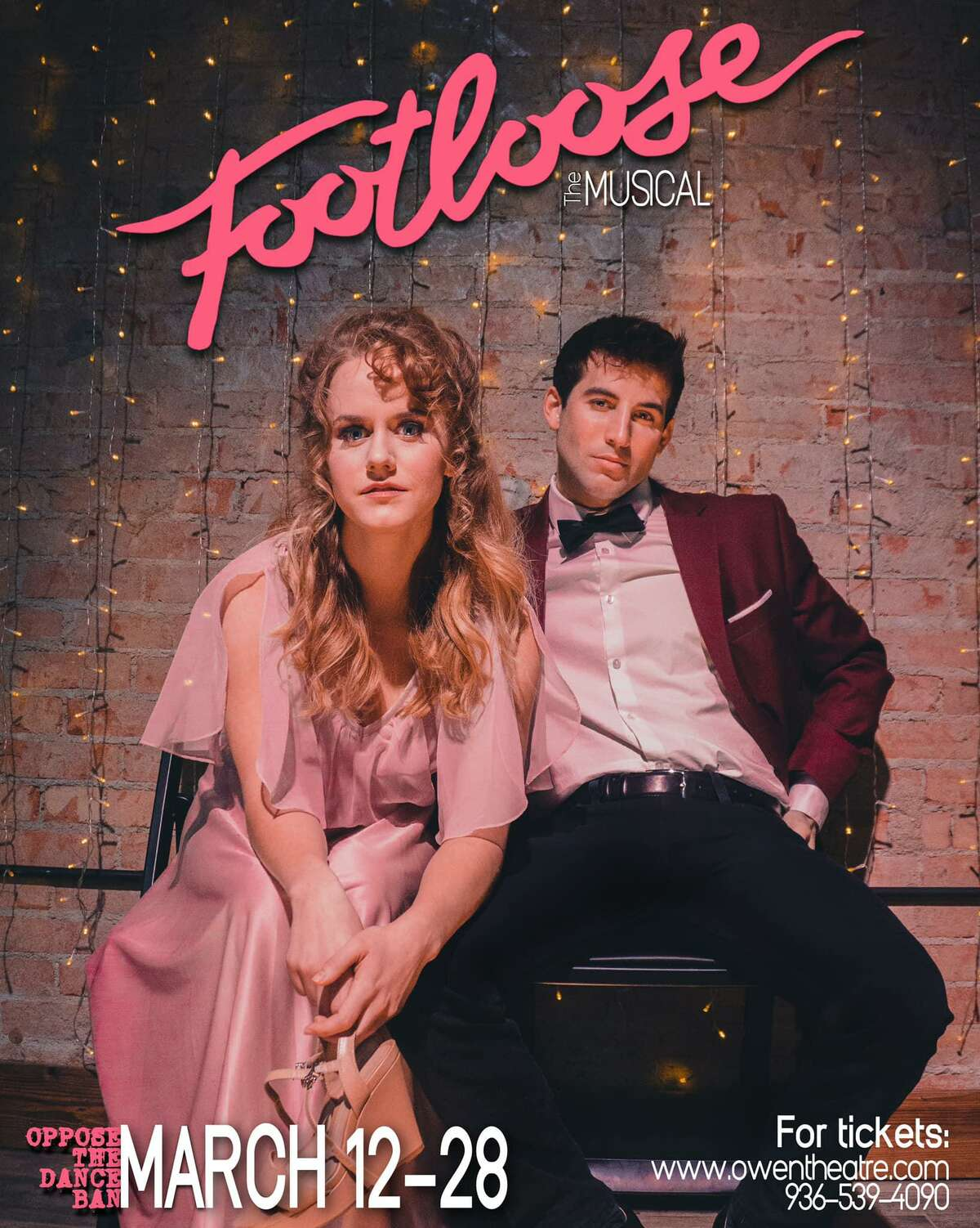 """The Players Theatre Company opens """"Footloose"""" March 12 at the Owen Theatre in downtown Conroe."""