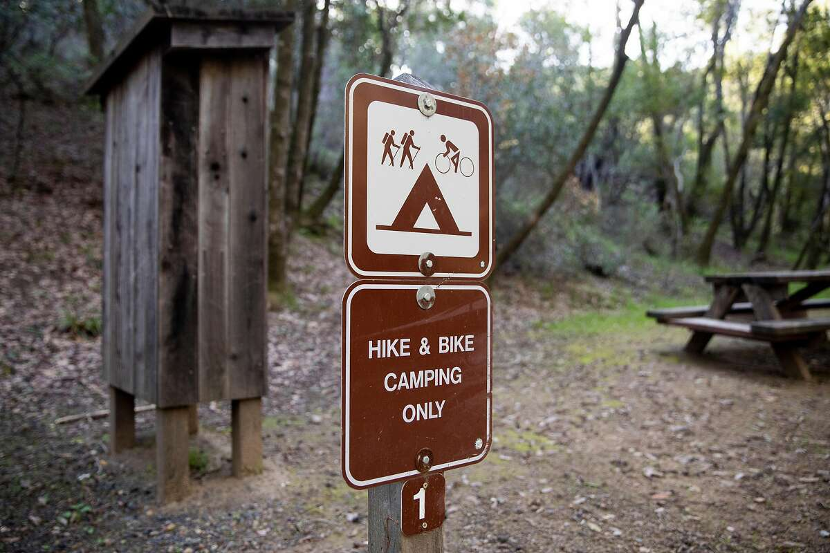 This campsite at China Camp State Park in San Rafael won't remain empty for long.