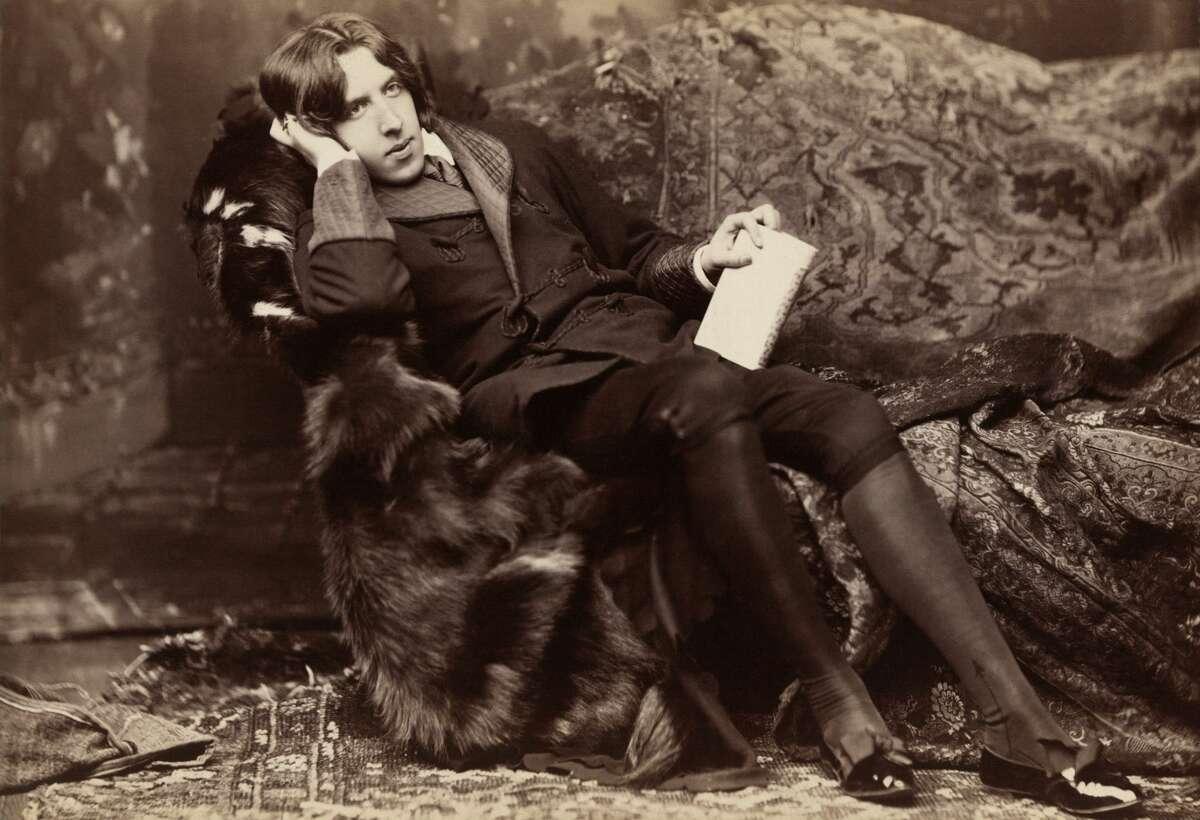 Oscar Wilde, Irish writer, wit and playwright, 1882.