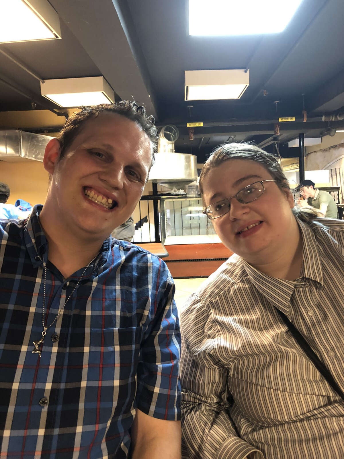 From left, Eli Finkelstein and Dina Wolf. The couple have disabilities and are seeking supportive housing together so they can wed. (Photo courtesy of Ruth Finkelstein)