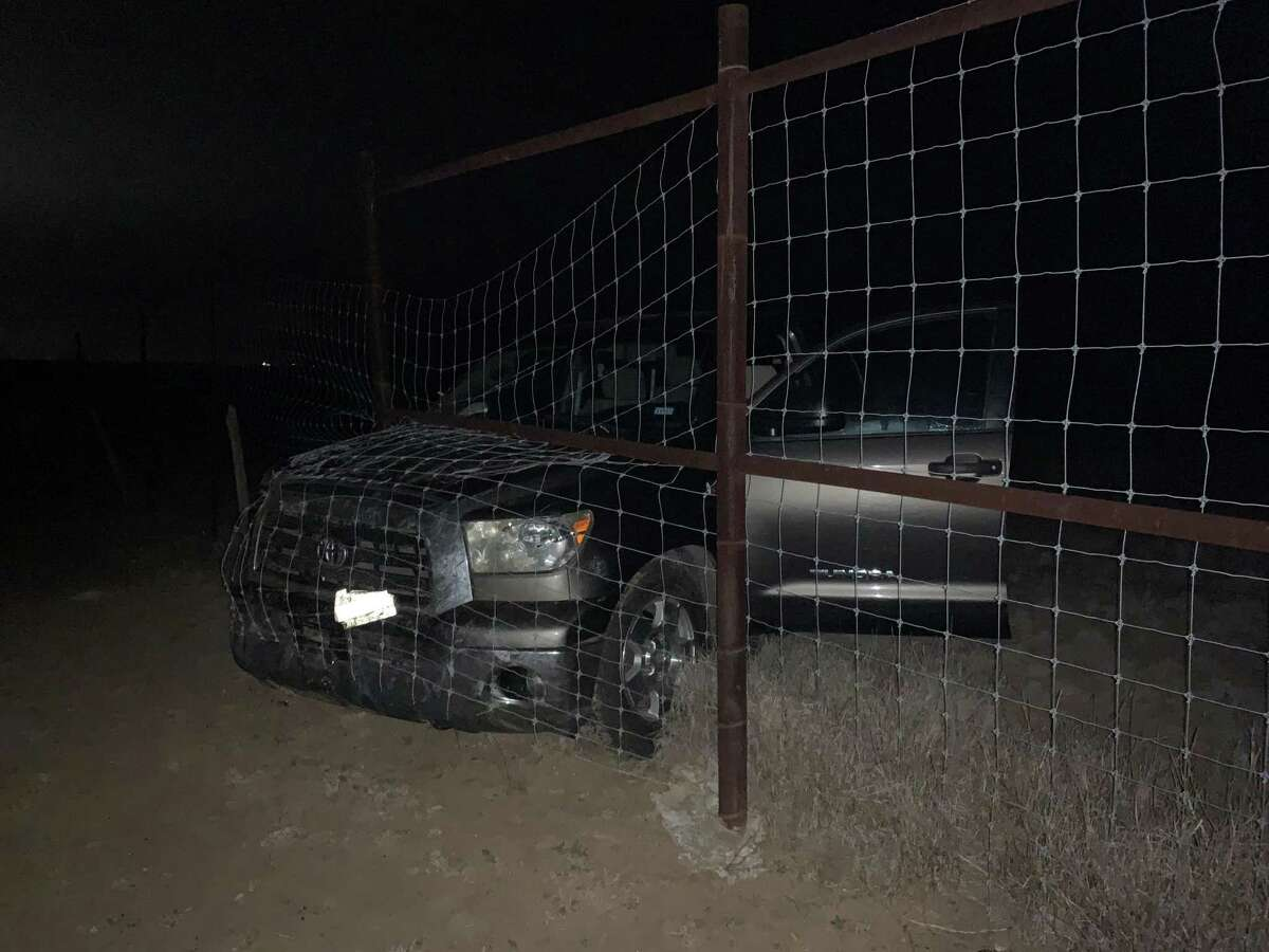 U.S. Border Patrol agents said this Toyota Tundra was involved in human smuggling near Cotulla.