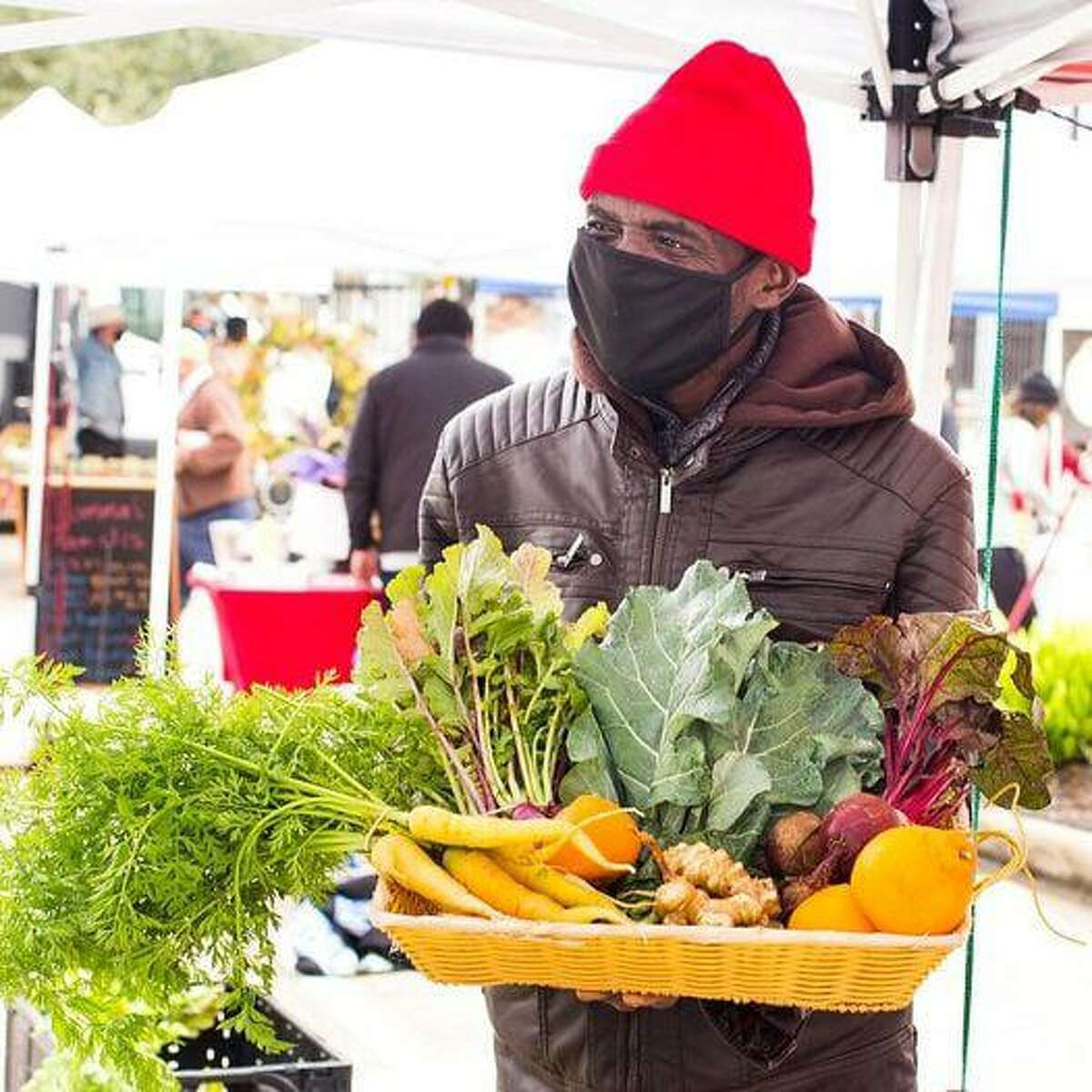 The Bay Area Farmers Market is held every Sunday at Baybrook Mall;